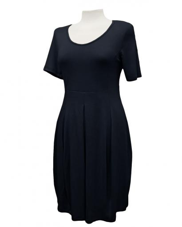 Jerseykleid Halbarm, schwarz (Bild 1)