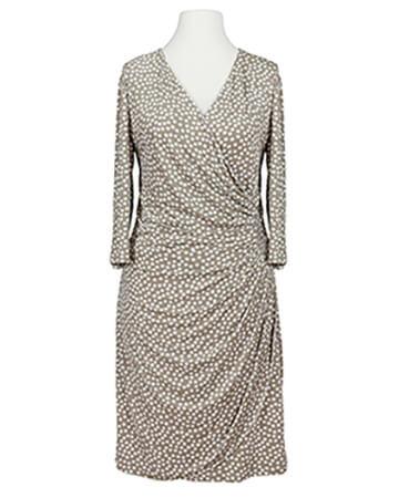 Jerseykleid mit Punkten, beige (Bild 1)