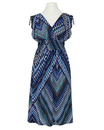 Jerseykleid Print, blau