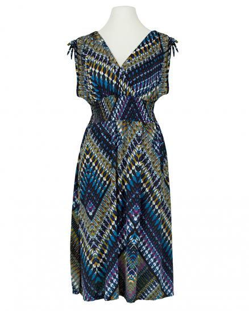 Jerseykleid Print, dunkelblau