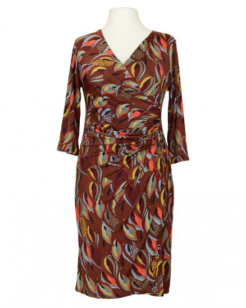 Jerseykleid Print, rostbraun