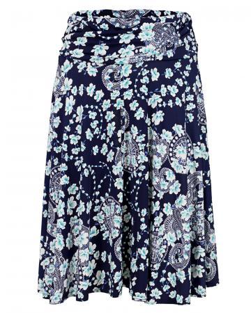 Jerseyrock Floral, blau