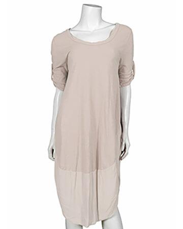Kleid Baumwolle, beige (Bild 1)