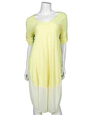 Kleid Baumwolle, gelb (Bild 1)