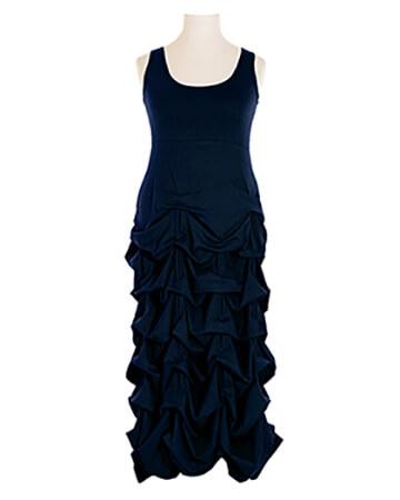 Jerseykleid Raffung, blau