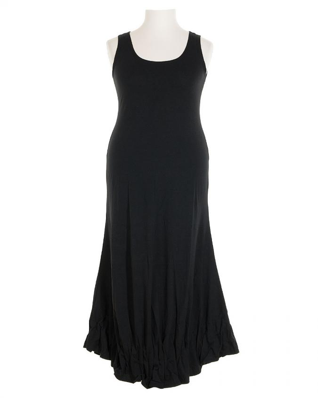 Jerseykleid lang, schwarz (Bild 1)