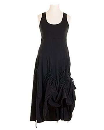 Damen Jerseykleid A-Form, schwarz