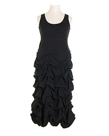 Jerseykleid Raffung, schwarz (Bild 1)