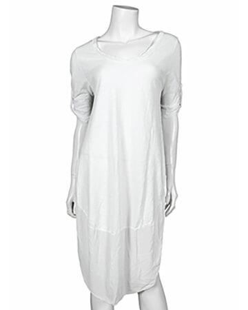 Kleid Baumwolle, weiss (Bild 1)