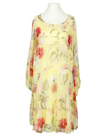 Kleid 2-tlg. mit Seide, gelb