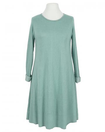 Kleid A-Linie mit Viskose, aqua