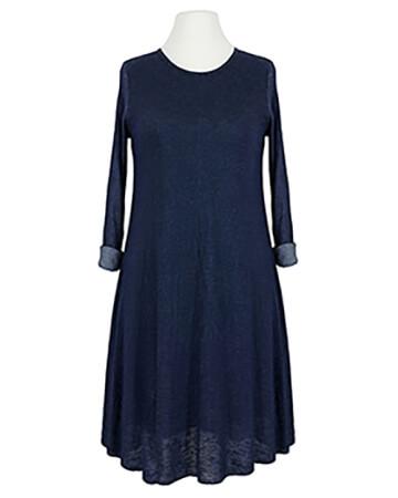 Kleid A-Linie mit Viskose, blau