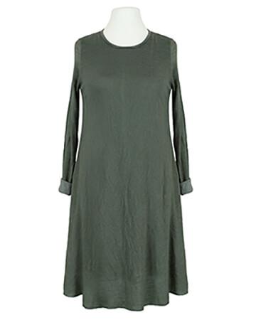 Kleid A-Linie mit Viskose, khaki
