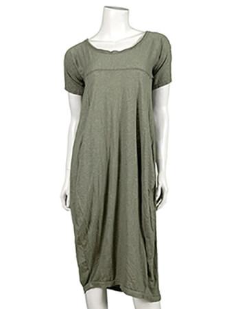 Kleid Baumwolle, khaki (Bild 1)