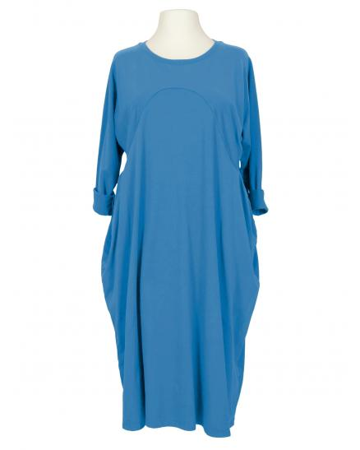 Kleid Baumwolljersey, azurblau
