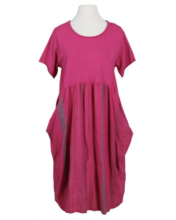 Kleid Baumwolljersey, fuchsia