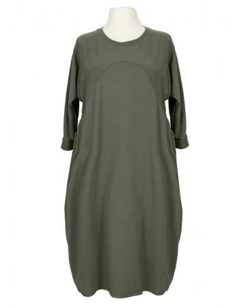 Kleid Baumwolljersey, khaki