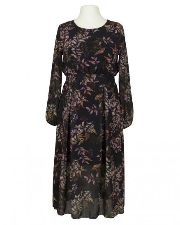 Kleid Crêpe Chiffon, schwarz (Bild 1)