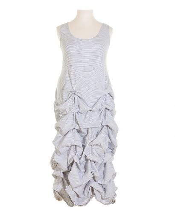 Jerseykleid Raffung, weiss