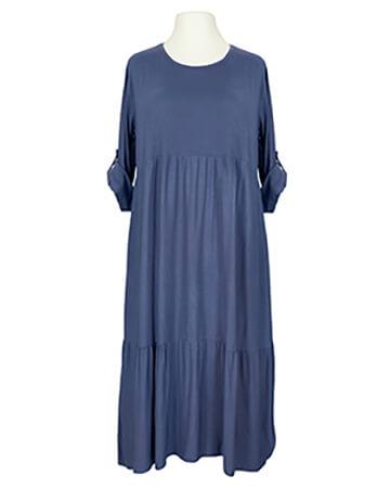 Kleid mit Baumwolle, blau