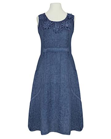 Kleid mit Blüten, blau (Bild 1)