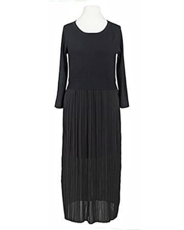 Kleid mit Plissee, schwarz