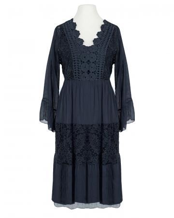 Kleid mit Seide, blau