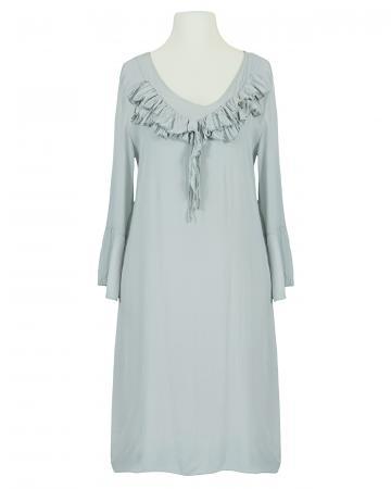 Kleid mit Seide, grau