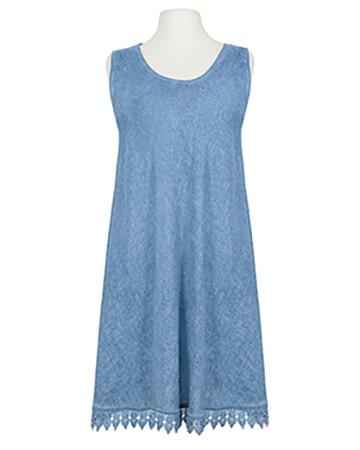 Kleid mit Spitze, jeansblau