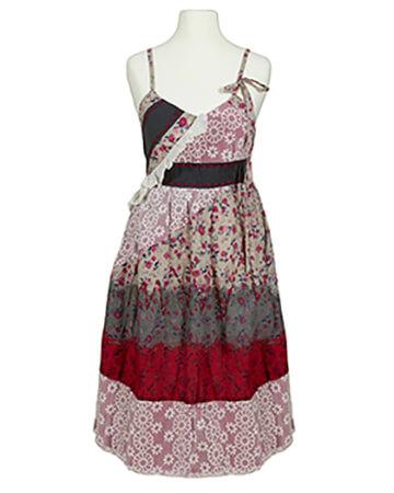 Kleid mit Spitze, multicolor (Bild 1)