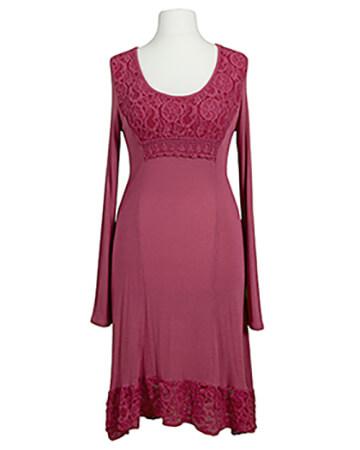 Kleid mit Spitze, pink