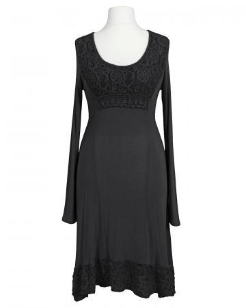 Kleid mit Spitze, schwarz