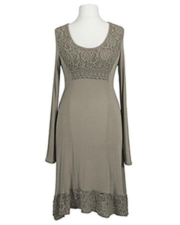 Kleid mit Spitze, taupe