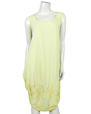 Kleid mit Stickerei, gelb