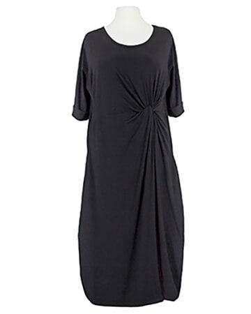 Kleid mit Wickeloptik, schwarz