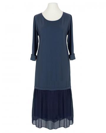Kleid Seidenvolant, blau (Bild 1)