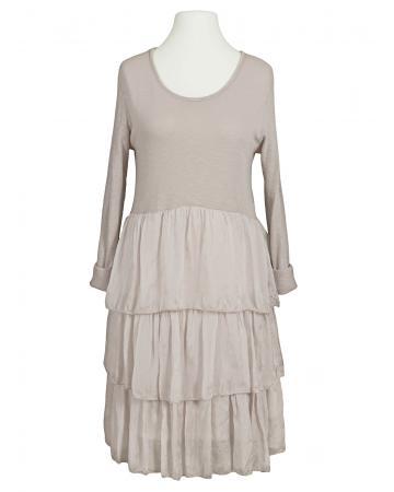 Kleid Seidenvolant, puderrosa