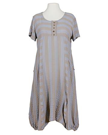 Kleid Streifen A-Schnitt, blau