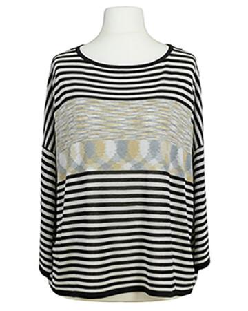 Pullover Streifen, schwarz grau (Bild 1)