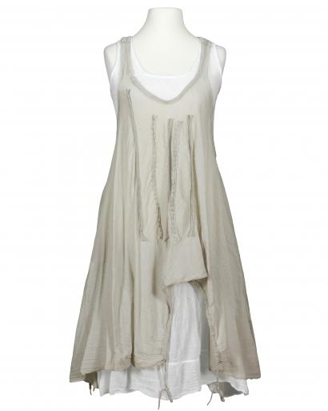 Lagenlook Kleid 2-tlg., taupe (Bild 1)