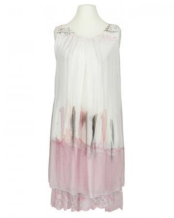 Lagenlook Kleid mit Seide, weiss (Bild 1)