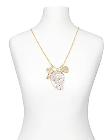 Lange Halskette mit Perlmuttanhänger (Bild 1)