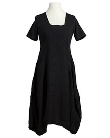 Leinenkleid, schwarz