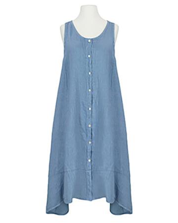 Leinenkleid A-Form, blau (Bild 1)