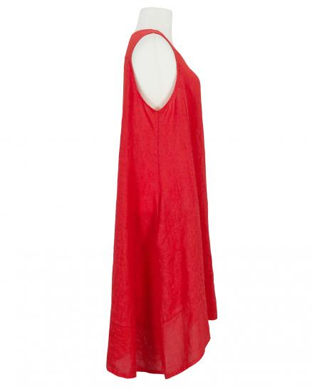 Leinenkleid A-Form, rot