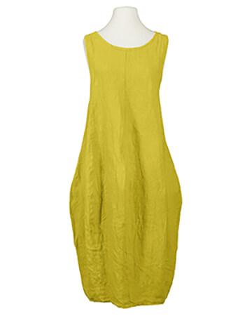 Leinenkleid Ballonform, gelb