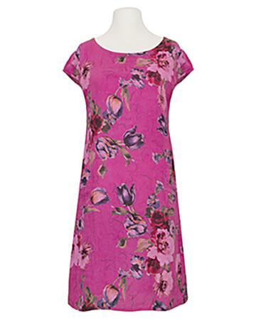Leinenkleid Blumenprint, pink
