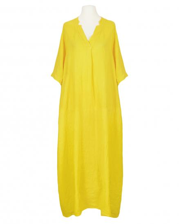 Leinenkleid lang, gelb