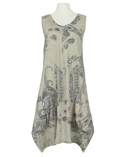 Leinenkleid Paisley Muster, taupe