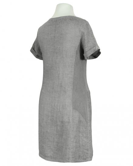 Leinenkleid Washed Look, grau